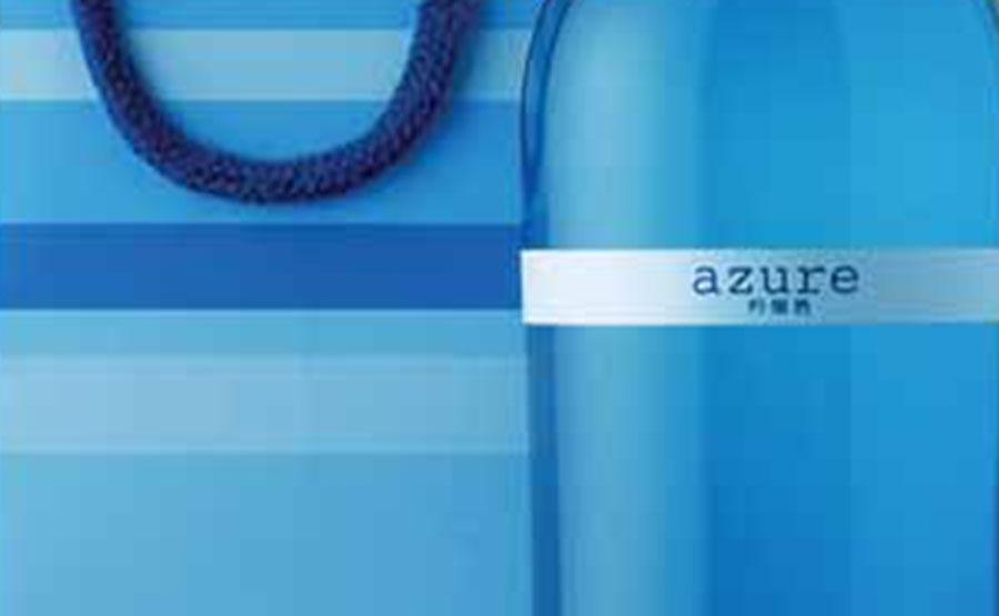<span>azure</span>土佐室戸岬沖を流れる海洋深層水を仕込み水にして、新しいタイプの吟醸酒'azure'(アジュール)が誕生しました。